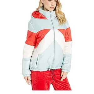 NWT Juicy Couture Colorblock Puffer Size Large